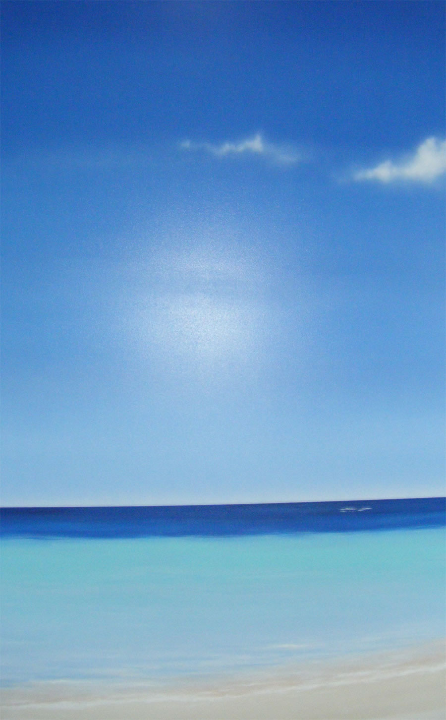 La Plage La Mer Et Le Soleil Peinture Déco Sur Le Thème De La Mer
